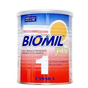 Sữa bột Biomil Plus 1 của Pháp cho trẻ từ 0 đến 6 tháng hộp 400g