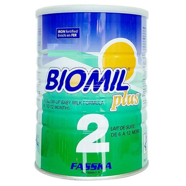 Sữa bột Biomil Plus 2 của Pháp cho trẻ từ 6 đến 12 tháng hộp 800g