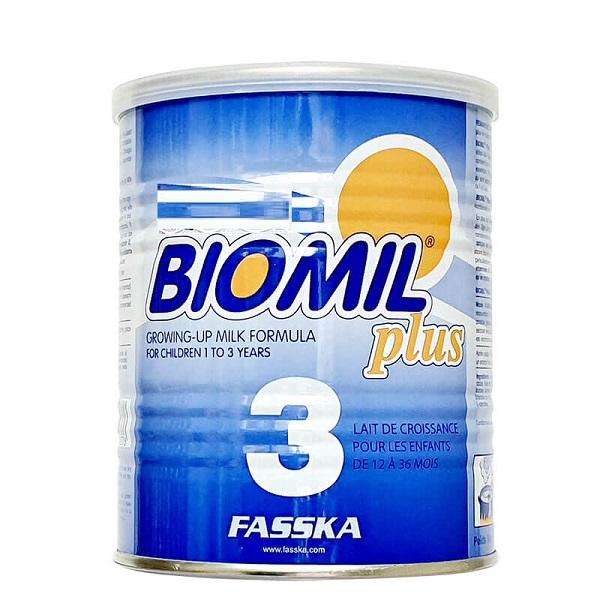 Sữa bột Biomil Plus 3 của Pháp cho trẻ từ 1 đên 3 tuổi hộp 400g