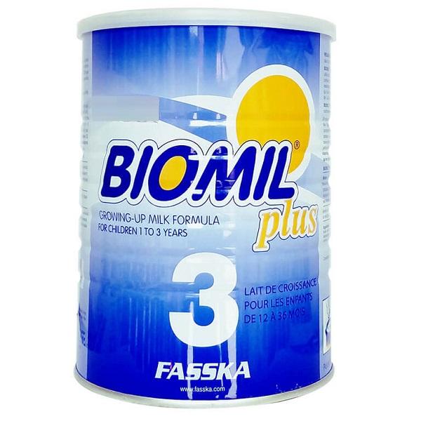 Sữa bột Biomil Plus 3 của Pháp cho trẻ từ 1 đến 3 tuổi hộp 800g