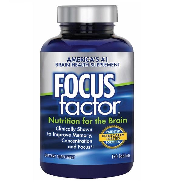 Viên uống bổ não Focus Factor Nutrition For The Brain của Mỹ lọ 150 viên