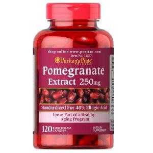Viên uống tinh chất hạt lựu Puritan's Pride Pomegranate Extract 250mg của Mỹ lọ 120 viên
