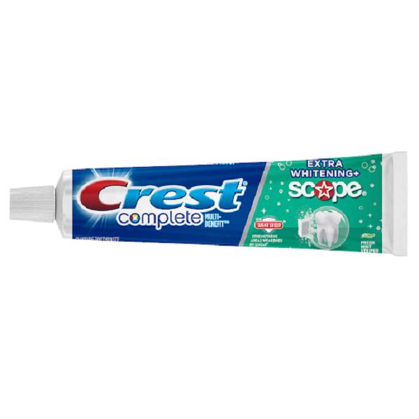 Kem đánh răng Crest Complete Extra Whitening Scope của Mỹ tuýp 232g