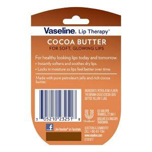 Sáp dưỡng môi Vaseline Lip Therapy Cocoa Butter hương bơ cacao của Mỹ lọ 7g
