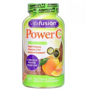 Kẹo dẻo bổ sung vitamin C Vitafusion Power C của Mỹ lọ 150 viên