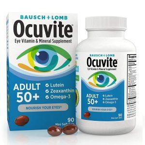 Viên uống bổ mắt Ocuvite Adult 50+ của Mỹ lọ 90 viên