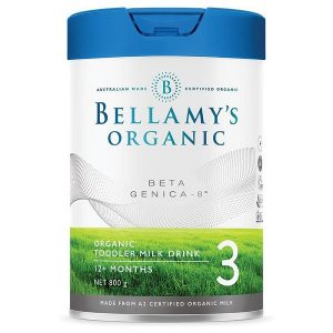 Sữa bột Bellamy's Organic Beta Genica – 8™ số 3 của Úc cho trẻ từ 1 tuổi lọ 800g