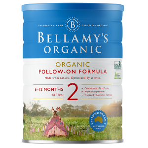 Sữa bột Bellamy's Organic số 2 Organic Follow On Formula của Úc hộp 900g