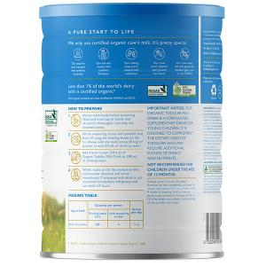 Sữa bột Bellamy's Organic số 3 Organic Toddler Milk Drink của Úc cho trẻ từ 1 đến 3 tuổi hộp 900g