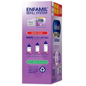 Sữa bột Enfamil Neuropro Gentlease của Mỹ cho trẻ từ 0 đến 12 tháng chống đầy hơi, nôn chớ, khó tiêu hộp giấy 567g
