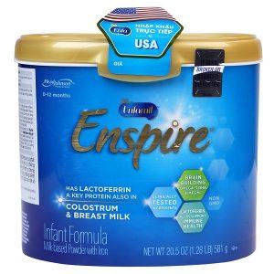 Sữa bột Enfamil Enspire Infant Formula của Mỹ cho trẻ từ 0 đến 12 tháng hộp 581g