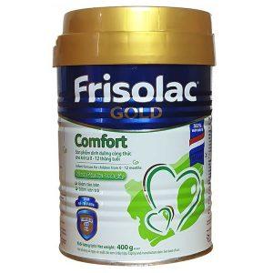 Sữa bột Frisolac Gold Comfort của Hà Lan cho trẻ từ 0 đến 12 tuổi bị táo bón, nôn trớ, đau thắt bụng hộp 400g