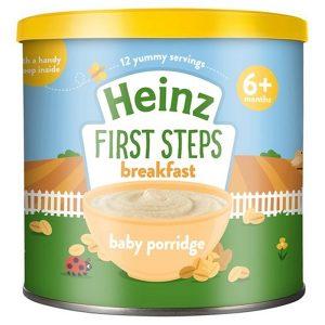 Bột ăn dặm Heinz First Steps Breakfast 6+ vị yến mạchcủa Anh cho trẻ từ 6 tháng tuổi hộp 240g