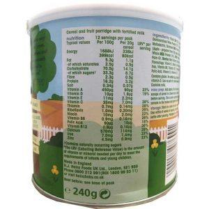 Bột ăn dặm Heinz First Steps Breakfast 6+ vị kem trái cây và sữa chua của Anh cho trẻ từ 6 tháng tuổi hộp 240g