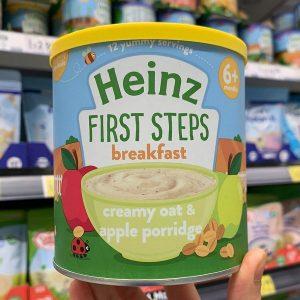 Bột ăn dặm Heinz First Steps Breakfast 6+ vị kem yến mạch chuối của Anh cho trẻ từ 6 tháng tuổi hộp 240g