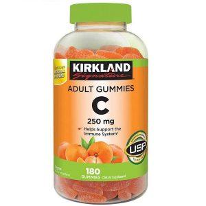 Kẹo dẻo bổ sung vitamin C Kirkland Signature Adult Gummies C của Mỹ lọ 180 viên