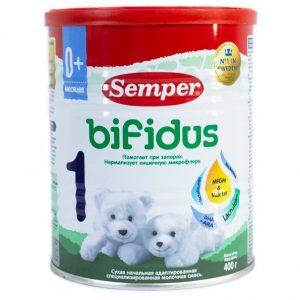 Sữa bột Semper Bifidus số 1 của Nga chống táo bón cho trẻ từ 0 đến 6 tháng hộp 400g