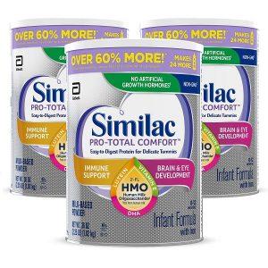 Sữa bột Similac Pro-Total Comfort Infant Formula của Mỹ cho trẻ từ 0 đến 12 tuổi hộp 1,02kg