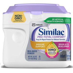 Sữa bột Similac Pro-Total Comfort Infant Formula của Mỹ cho trẻ từ 0 đên 12 tuổi hộp 638g
