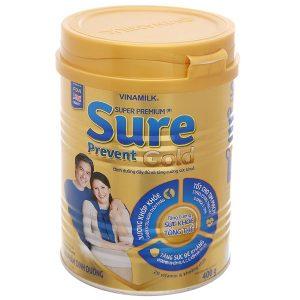 Sữa bột Vinamilk Super Premium Sure Prevent Gold của Việt Nam cho người từ 50 tuổi hộp 400g
