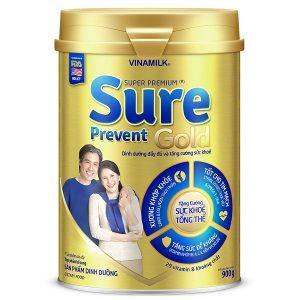 Sữa bột Vinamilk Super Premium Sure Prevent Gold của Việt Nam cho người từ 50 tuổi hộp 900g