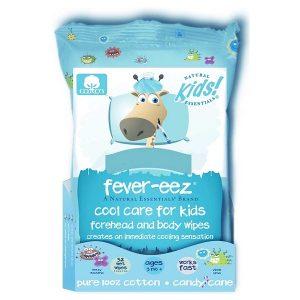 Khăn lau hạ sốt Fever-eez Cool Care For Kids Forehead And Body Wipes của Mỹ cho trẻ từ 3 tháng tuổi gói 32 miếng