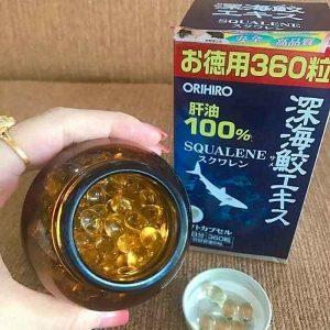 Viên uống sụn vi cá mập Orihiro Squalene của Nhật bản lọ 180 viên