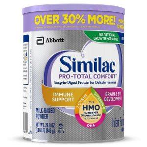 Sữa bột Similac Pro-Total Comfort Infant Formula của Mỹ cho trẻ từ 0 đên 12 tuổi hộp 845g