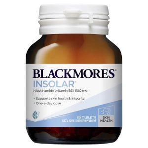 Viên uống đẹp da, bổ sung vitamin B3 Blackmores Insolar của Úc lọ 60 viên