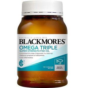Dầu cá hàm lượng cao Blackmores Omega Triple Super Strength Fish Oil của Úc lọ 150 viên