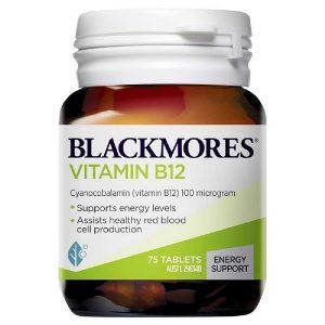 Viên uống bổ sung vitamin B12 Blackmores Vitamin B12 của Úc lọ 75 viên