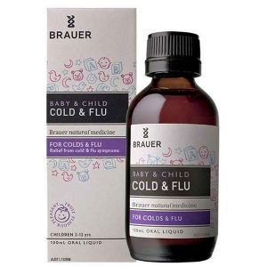 Siro trị cảm cúm Brauer Baby & Child Cold & Flu của Úc cho trẻ từ 2 tuổi lọ 100ml