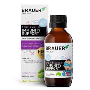 Siro tăng cường sức đề kháng Brauer Baby & Child Immunity Support Úc cho từ 0 đến 12 tuổi lọ 100ml