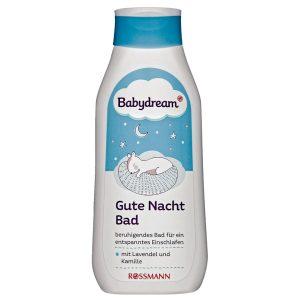 Sữa tắm Babydream Gute Nacht Bad của Đức giúp bé ngủ ngon chai 500ml