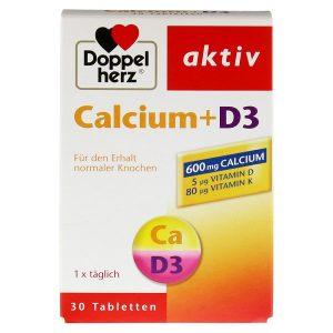Viên uống bổ sung canxi và vitamin D3 Doppelherz Calcium +Vitamin D3 của Đức hộp 30 viên