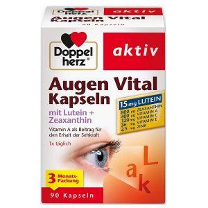 Viên bổ mắt Doppel herz Augen Vital Sehkraft của Đức hộp 90 viên