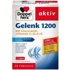 Viên xương khớp Doppelherz Gelenk 1200 Mit Glucosamin +Vitamin C+D+E+K của Đức hộp 30 viên