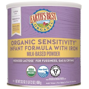 Sữa Earth's Best Organic Sensitivity Infant Formula With Iron của Mỹ cho trẻ từ 0 đến 12 tháng hộp 658g