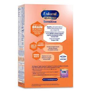 Sữa bột Enfamil Neuro Pro Sensitive của Mỹ cho trẻ từ 0 đến 12 tháng tiêu hóa kén, nôn chớ, dị ứng lactose hộp 833g