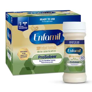 Sữa Enfamil ProSobee Soy Infant Formula của Mỹ cho trẻ từ 0 đến 12 tháng dị ứng đạm sữa bò hộp 12 chai 59ml/chai