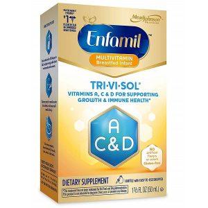 Vitamin A, C & D dạng siro Enfamil TRI-VI-SOL của Mỹ cho trẻ từ 0 đến 4 tuổi lọ 50ml