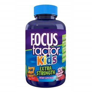 Kẹo phát triển trí não Focus Factor Kids của Mỹ cho trẻ từ 4 tuổi lọ 120 viên