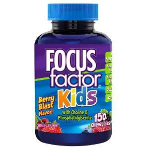 Kẹo phát triển trí não Focus Factor Kids của Mỹ cho trẻ từ 4 tuổi lọ 150 viên
