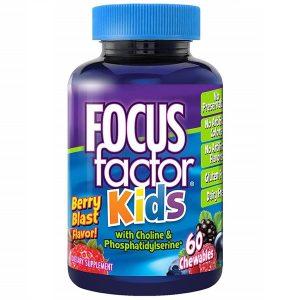 Kẹo phát triển trí não Focus Factor Kids của Mỹ cho trẻ từ 4 tuổi lọ 60 viên