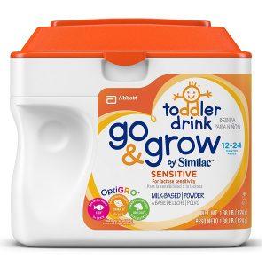 Sữa bột Go & Grow by Similac Sensitive Non-GMO của Mỹ cho trẻ từ 12 đến 24 tháng hộp 624g