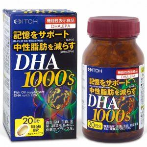 Viên bổ não Itoh DHA 1000s của Nhật Bản lọ 120 viên