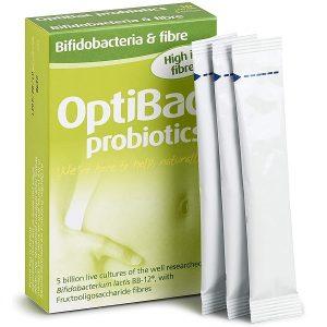 Men vi sinh optibac probiotics For maintaining regularity của Anh bổ sung chất Xơ, lợi khuẩn, trị táo bón hộp 10 gói