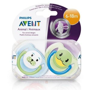 set 2 ty ngậm Philips Avent của Anh cho bé từ 6-18 tháng
