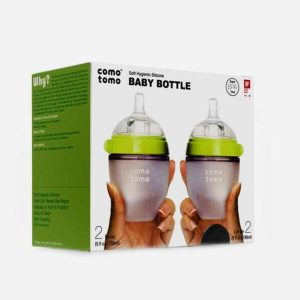 Set 2 bình sữa Comotomo Baby bottle 150ml xanh
