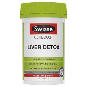 Viên giải độc gan Swisse Ultiboost Liver Detox của Úc lọ 200 viên